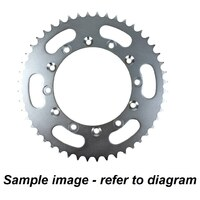 Yamaha XT250 2008 - 2020 Supersprox rear sprocket, steel, 48t with Rubber Cush D