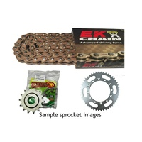 EK gold o-ring chain & steel sprocket kit for 90 - 92 Suzuki DR250S 13/49