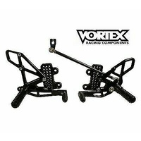 Vortex Rearsets for Kawasaki Ninja ZX-6R 2006 - 2010 - Black