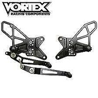 Vortex Rearsets for Kawasaki Ninja ZX-10R 2011 - 2015 Non-ABS - Black