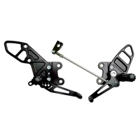 Vortex Rearsets for Yamaha YZF-R1 R1 2009 - 2014 - Black