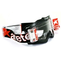 ARIETE MOTORCYCLE ROLL OFF GOGGLE BLACK - TERO