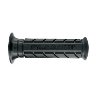 ARIETE MOTORCYCLE HAND GRIPS - FLASHGRIP - ROAD - BLACK 120mm CLOSED END