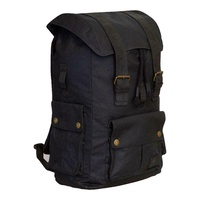 Merlin Ashby backpack rucksack leather waxed cotton motorcycle luggage black 30L