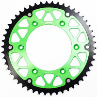 Kawasaki KX125 1980 - 2008 States MX fusion hybrid rear sprocket, green, 48t