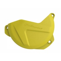 Polisport plastic clutch cover protector yellow for 2017 - 2019 Husqvarna TE300