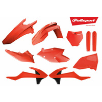 Polisport plastics kit orange off road dirt mx for 16 - 18 KTM 125 150 250 SX