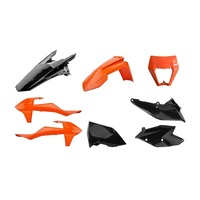 Polisport enduro plastics kit for 17 - 19 KTM 350 EXC-F Six Days black orange