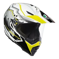 AGV AX-8 Dual Evo Earth wht/blk/yel motorcycle road and off road dirt MX helmet