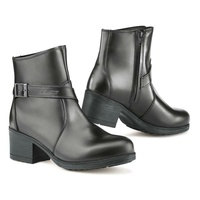 TCX X-Boulevard waterproof leather womens ladies black motorcycle boots road