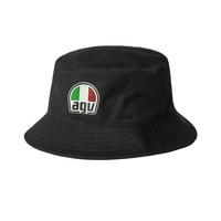 AGC Black Bucket Hat AGV Helmets Hat Cap