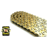 Triple S 525 o-ring motorcycle chain 120 links road street dirt off road mx gold
