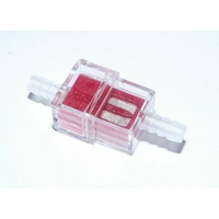 Bike It Square Inline Fuel Filter 6mm Motorcycle Motorbike Scooter Trials MX