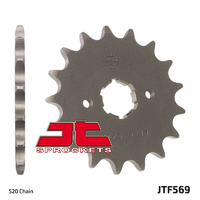 JT steel front sprocket 17t for 1991 - 1999 Kawasaki KLX250