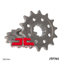 JT steel front sprocket 15t for 2008 - 2013 Ducati 848 and 848 Evo