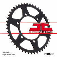 JT steel rear sprocket 47t 520 conversion for 2004 - 2009 Yamaha FZ6N