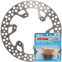 Brake Rotor & Pad Rear Kit - Yamaha YZ125 2003 - 2020
