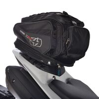 Oxford T30R Sculpted Motorbike Tail Pack Bag, Backpack Convertible - Black