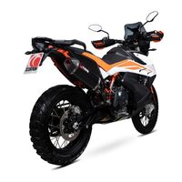 19-20 KTM 790 Adventure / R Scorpion Slip On Serket Parallel Black Ceramic Exhaust
